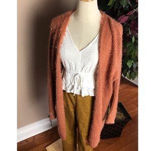 Fuzzy Oversized Longline Cardigan Sz Medium